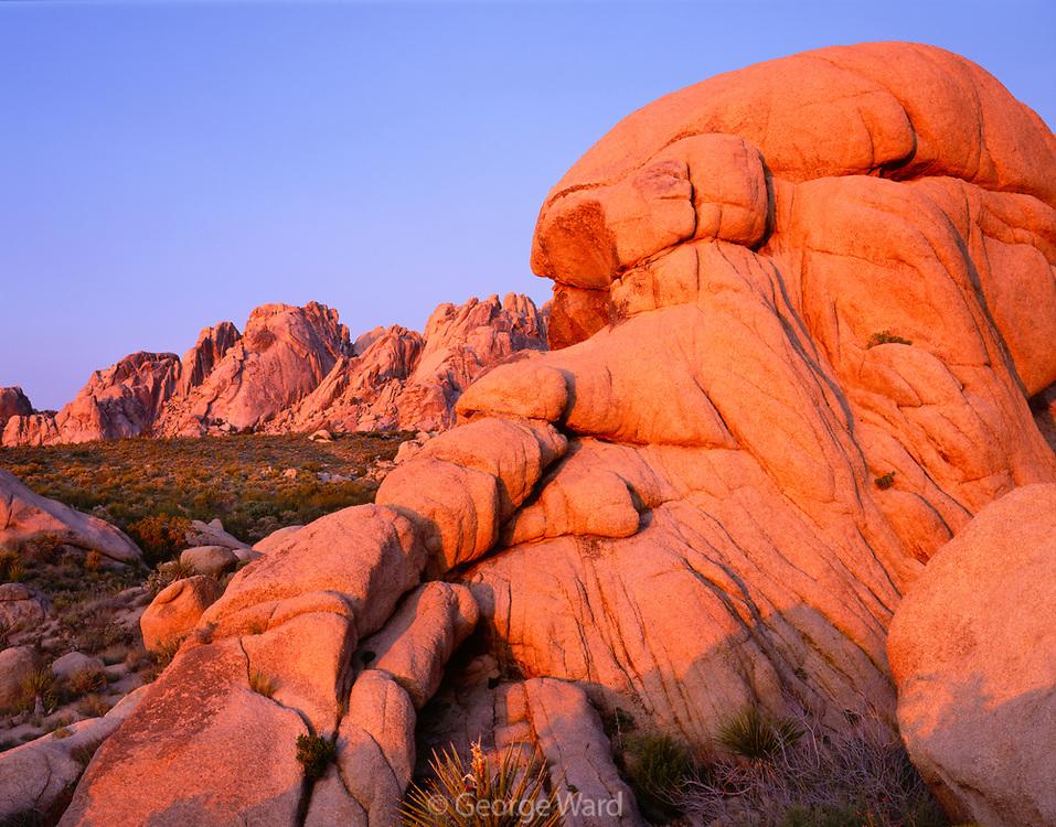 Dawn Light on the Granite Mountains, Mojave National Preserve, California