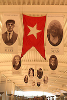 Miles Morgan Travel's Titanic Memorial Cruise leaves Southampton..Exactly1309 paying passengers from all over the world set sail from Southampton on a 12 night cruise to commemorate the centenary of the sinking of the Titanic..Display of photos of some of the passengers on Titanic in the departure hall.