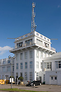 Croydon airport's control tower, the birthplace of commercial aviation in 1923 after service as a WW1 airfield. In this car park the world's first airliners (like the Imperial Airways Handley Pages) stopped, Charles Lindberg arrived to greet the king after his transatlantic solo flight and from where Amy Johnson flew solo as the first woman, to Australia.