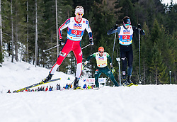 02.03.2019, Seefeld, AUT, FIS Weltmeisterschaften Ski Nordisch, Seefeld 2019, Nordische Kombination, Langlauf, Team Bewerb 4x5 km, im Bild v.l. Espen Bjoernstad (NOR), Go Yamamoto (JPN) // f.l. Espen Bjoernstad of Norway and Go Yamamoto of Japan during the Cross Country Team competition 4x5 km of Nordic Combined for the FIS Nordic Ski World Championships 2019. Seefeld, Austria on 2019/03/02. EXPA Pictures © 2019, PhotoCredit: EXPA/ Stefan Adelsberger