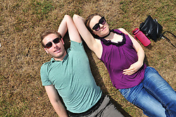 June 23, 2017 - Greenwich, LONDON, UK - Another sunny weather day in London and the South East..People enjoying the sunshine in Greenwich Park,Greenwich,London today. (Credit Image: © Grant Falvey/London News Pictures via ZUMA Wire)