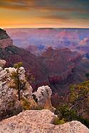 Sunset on the South Rim near Grand Canyon Village, Grand Canyon National Park, Arizona