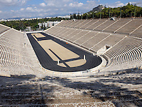 ATHENS - 9 October 2016 - The Pantheanic Stadium is the world's only stadium built totally out of marble. It was initially built for the Panathenaic Games in about 330BC. IT was then rebuilt in Marble in 144 AD, fell into disrepair before being excavated and repaired in 1869. It was used for the first modern Olympic Games in 1896 and again 108 years later when the Olympics were held in Athens in 2004. Picture: Ryan Eyer