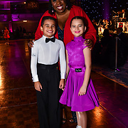 Chizzy Akudolu and dances  at the Paul Killick - Killick Royale Championships 2018 at The Grosvenor House Hotel, London, UK. 7 October 2018.