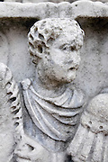 ancient Roman figure with deteriorated head