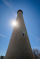 The Cape May Lighthouse located in the town of Cape May Point, NJ, was built in 1859, is still an active aid to maritime navigation.