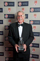 CARDIFF, WALES - Tuesday, October 7, 2008: Former Wales, Swansea and Liverpool centre forward Des Palmer with his FAW Special Award at the Brains Beer Wales Football Awards at the Millennium Stadium. (Photo by David Rawcliffe/Propaganda)