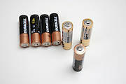 AA Batteries on white background