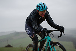Tayler Wiles battles up sector five at Strade Bianche - Elite Women 2018 - a 136 km road race on March 3, 2018, starting and finishing in Siena, Italy. (Photo by Sean Robinson/Velofocus.com)