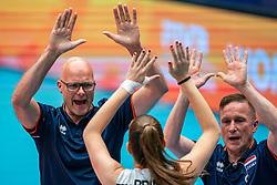 Coach Marko Klok of Netherlands, Ass. coach Han Abbing of Netherlands during United States - Netherlands, FIVB U20 Women's World Championship on July 15, 2021 in Rotterdam