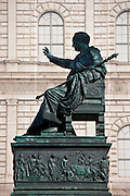 Bronze statue of Max Iosepho, King of Munich, in town square by Residence Palace in Munich, Bavaria, Germany