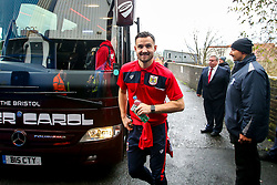 Bailey Wright of Bristol City arrives at St Andrew's Stadium - Mandatory by-line: Robbie Stephenson/JMP - 08/12/2018 - FOOTBALL - St Andrew's Stadium - Birmingham, England - Birmingham City v Bristol City - Sky Bet Championship