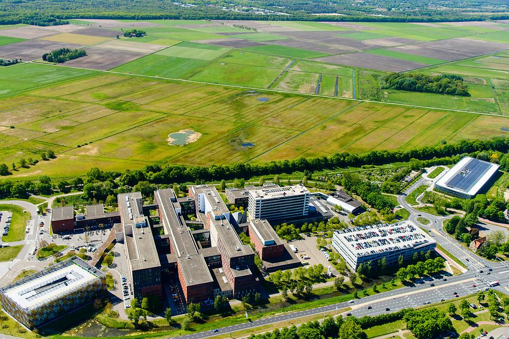 Nederland, Noord-Brabant, Den Bosch, 13-05-2019; Jeroen Bosch ziekenhuis (JBZ),  algemeen ziekenhuis. Rand van de stad met Bossche Broek in de achtergrond.<br /> Jeroen Bosch hospital (JBZ), general hospital.<br /> luchtfoto (toeslag op standard tarieven);<br /> aerial photo (additional fee required);<br /> copyright foto/photo Siebe Swart