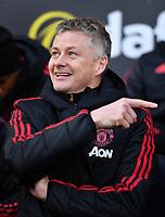 Football - 2018 / 2019 Premier League - Fulham vs. Manchester United<br /> <br /> Manchester United caretaker manager Ole Gunnar Solskjaer, at Craven Cottage.<br /> <br /> COLORSPORT/ASHLEY WESTERN