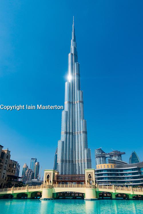 Burj Khalifa skyscraper in Dubai, United Arab Emirates, UAE