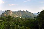 View over Montenegrin hilltops. Montenegro, Balkan, Europe.