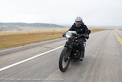 Motorcycle Cannonball coast to coast vintage run. Stage 11 (248-miles) from Billings to Great Falls, MT. Tuesday September 18, 2018. Photography ©2018 Michael Lichter.