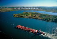 Barge, Tugboat, Arthur Kill, Staten Island, Aerial, NYC, NY