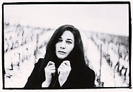 Martine Vocat du Domaine des Crêtes dans les vignes en janvier 2020<br /> En collaboration avec l'IVV (interprofession de la vigne et du vin en Valais)<br /> Viticulture, vigne, cave, vigneron, vin, agriculture, raisin, Suisse, Valais<br /> Project terre rare, connecté a la terre<br /> #photoargentique #noiretblanc #noiretblancphotographie #blackandwhite #blackandwhitephotography #photoargentique #photographieargentique #leica #leicamp #ilford #labophoto #terrerare #terresrares #terrerareprojet @omaire. <br /> (STUDIO_54/ OLIVIER MAIRE)