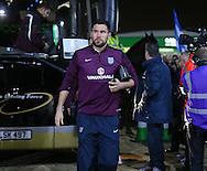 England's Ben Foster arrives<br /> <br /> - International Friendly - Scotland vs England- Celtic Park - Glasgow - Scotland - 18th November 2014  - Picture David Klein/Sportimage