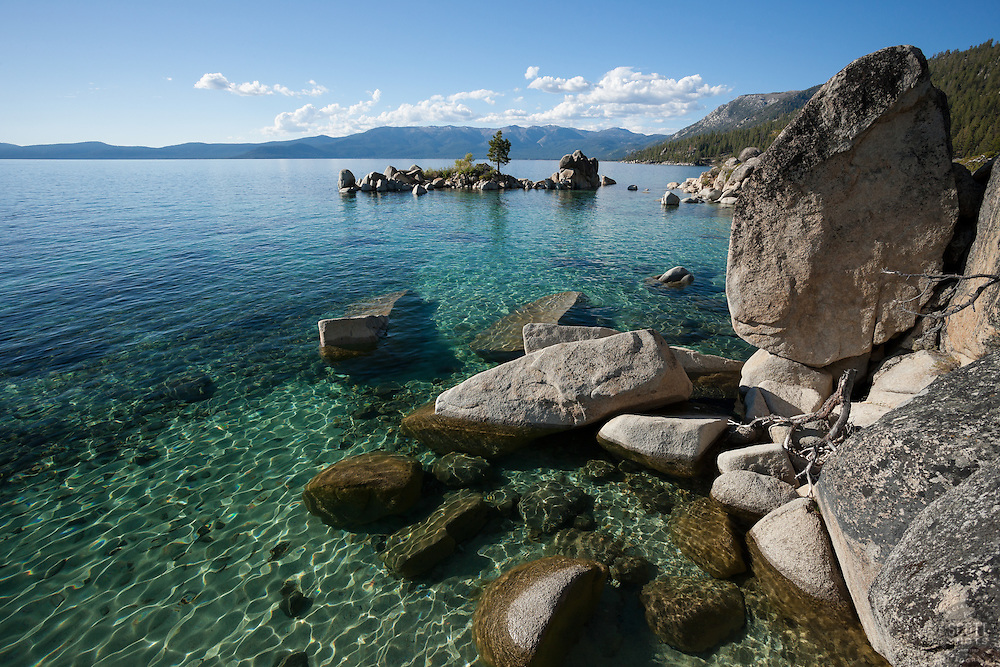 """""""Boulders at Lake Tahoe 35"""" - These boulders were photographed along the shore at Whale Beach, Lake Tahoe."""