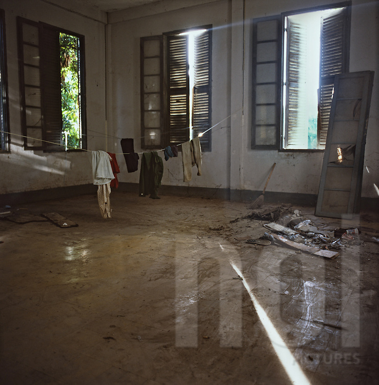 Abandoned colonial house, Bahrein Embassy project, Vientiane, Laos, Asia