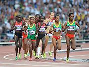 Olympic Stadium, Stratford, London, United Kingdom<br /> <br /> Description:<br /> <br /> 2012 London Olympic, Athletics, Women's 5000 Meters.<br /> <br /> DEFAR Meseret, CHERUIYOT Vivian Jepkemoi,  DIBABA Tirunesh, KIPYEGO Sally Jepkosgei, BURKA Gelete, KIBIWOT Viola Jelagat, PAVEY Joanne,  BLEASDALE Julia, GOLOVKINA Olga, ESHETE Shitaye, HUDDLE Molly, DABA Tejitu, NAGOVITSYNA Yelena, CULLEY Julie,  ROMAGNOLO Elena <br /> <br /> 21:30:35  Friday  10/08/2012 [Mandatory Credit: Peter Spurrier/Intersport Images]