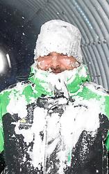 THEMENBILD - In der Steiermark sorgt heftiger Schneefall und Sturm für Behinderungen im öffentlichen Leben und im Straßenverkehr. Hier im Bild ein Mann mit einer Schneefräse in einem Tunnel auf der Planai, aufgenommen am Samstag 5. Jänner 2019 auf der Planai in Schladming, Steiermark // In Styria heavy snowfall and storms create disabilities in public life and in traffic. Man with a snowblower in a tunnel on the Planai, pictured on Saturday 5. January 2019 in Schladming, Steiermark. EXPA Pictures © 2019, PhotoCredit: EXPA/ Martin Huber