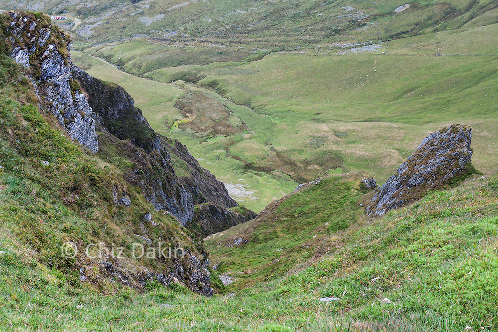 Looking down Hobcarton Crags from Hopegill Head