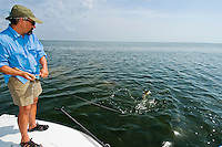 Sight fishing the Laguna Madre off the Texas Gulf Coast.
