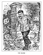 The Reaper. (An angry Stalin on a revenge rampage with hammer and sickle amid a destroyed Russian city)