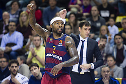 January 27, 2017 - Barcelona, Spain - Tyrese Rice of FC Barcelona during the Euroleague Turkish Airlines EuroLeague regular season between FC Barcelona vs Baskonia Vitoria Gasteiz at Palau Blaugrana on January 28th, 2017 in Barcelona, Spain. (Credit Image: © Xavier Bonilla/NurPhoto via ZUMA Press)