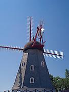 Historical, rebuilt Danish Windmill on display in Elk Horn, Iowa.