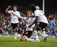 F.A. Barclaycard Premiership. Fulham v Portsmouth. 31.01.09<br /> Pic By Karl Winter Fotosports International<br /> Fulham celebrate sub Erik Nevland's second goal