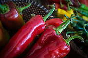 Peppers at the Boylan Heights Farmers Market, Raleigh, North Carolina
