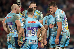 January 19, 2019 - Limerick, Ireland - Sam Skinner (6) of Exeter talks to his teammates during the Heineken Champions Cup match between Munster Rugby and Exeter Chiefs at Thomond Park in Limerick, Ireland on January 19, 2019  (Credit Image: © Andrew Surma/NurPhoto via ZUMA Press)