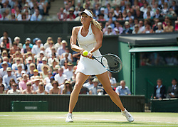 02.07.2011, Wimbledon, London, GBR, WTA Tour, Wimbledon Tennis Championships, Final, im Bild Maria Sharapova (RUS) in action during the Ladies' Singles Final on day twelve of the Wimbledon Lawn Tennis Championships at the All England Lawn Tennis and Croquet ClubEXPA Pictures © 2011, PhotoCredit: EXPA/ Propaganda/ David Rawcliffe +++++ ATTENTION - OUT OF ENGLAND/UK +++++