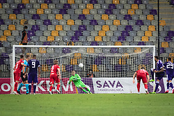 during football match between NK Maribor and Coleraine FC in 1st Round of UEFA Europa League qualifications, on August 27, 2020 in Ljudski Vrt, Maribor, Slovenia. Photo by Blaž Weindorfer / Sportida