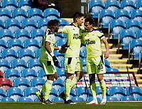 Football - 2020 / 2021 Premier League - Burnley vs. Newcastle United<br /> <br />  Jacob Murphy of Newcastle United celebrates with Allan Saint-Maximin and Federico Fernandez after scoring his team's second goal, at Turf Moor.<br /> <br /> <br /> COLORSPORT/ALAN MARTIN