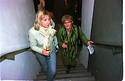 Hanife Hussein and Basia Taboda, Product: Richard Hamilton private view, Gagosian Gallery. London. 13 January 2003.  © Copyright Photograph by Dafydd Jones 66 Stockwell Park Rd. London SW9 0DA Tel 020 7733 0108 www.dafjones.com