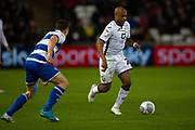 Swansea City forward André Ayew (22) during the EFL Sky Bet Championship match between Swansea City and Queens Park Rangers at the Liberty Stadium, Swansea, Wales on 11 February 2020.