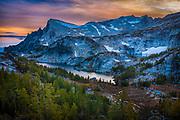 View of Upper Enchantment Lakes area of Alpine Lakes Wilderness, Washington