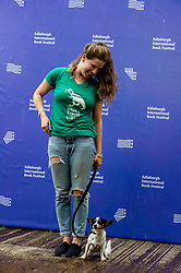 Pictured: Caroline Emma Criado-Perez amnd her dog Poppy<br /><br />Caroline Emma Criado-Perez OBE is a British feminist, activist and journalist. Her first national campaign, the Women's Room project, was for female experts to be better represented in the media.<br /><br />Ger Harley | EEm 11 August 2019