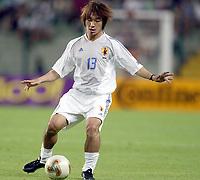 FOTBALL - CONFEDERATIONS CUP 2003 - GROUP A - JAPAN v COLOMBIA  - 030622 - DAISUKE OKU (JAP) - PHOTO JEAN MARIE HERVIO / DIGITALSPORT