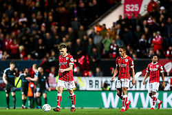 Jamie Paterson of Bristol City looks dejected after Leroy Sane of Manchester City scores a goal to make it 1-0 just before half time - Rogan/JMP - 23/01/2018 - Ashton Gate Stadium - Bristol, England - Bristol City v Manchester City - Carabao Cup Semi Final Second Leg.