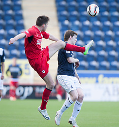 Raith Rovers Callum Booth and Falkirk's Blair Alston.<br /> Falkirk 2 v 1 Raith Rovers, Scottish Championship game played today at The Falkirk Stadium.<br /> © Michael Schofield.