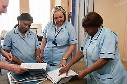 Medical staff on the hospital wing, HMP Barlinnie, Glasgow