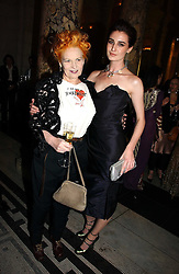 Left to right, VIVIENNE WESTWOOD and ERIN O'CONNOR at the British Fashion Awards 2006 sponsored by Swarovski held at the V&A Museum, Cromwell Road, London SW7 on 2nd November 2006.<br /><br />NON EXCLUSIVE - WORLD RIGHTS
