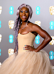 Cynthia Erivo attending the 72nd British Academy Film Awards held at the Royal Albert Hall, Kensington Gore, Kensington, London.