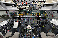 Boeing 737-400 cockpit at Vancouver International airport